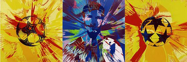 Beautiful Messi Spin Painting Damien Hirst