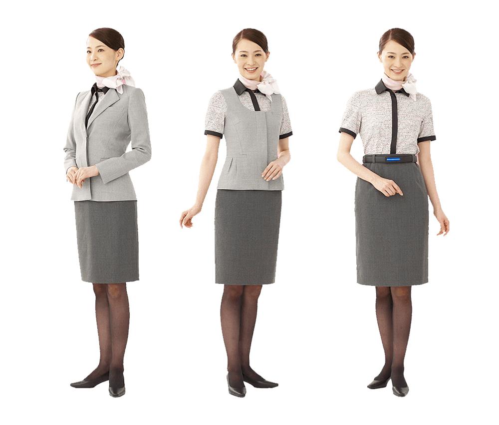 ANA全日空地勤人員的制服以親切為主要訴求(圖/ANA)